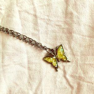 Butterfly bracelet or choker